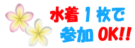 奄美大島シュノーケル水着1枚でOK