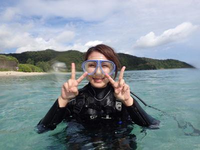 奄美体験ダイビング 島人が遊びに来てくれました!