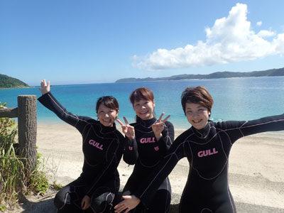 奄美体験ダイビング いい天気の中仲良し3名様で体験☆