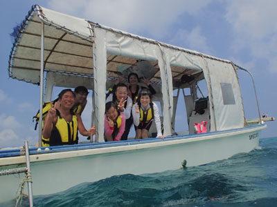 奄美大島ボートシュノーケル ご家族で海へ~~~☆