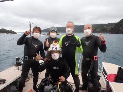 奄美ダイビング 30周年お祝い☆