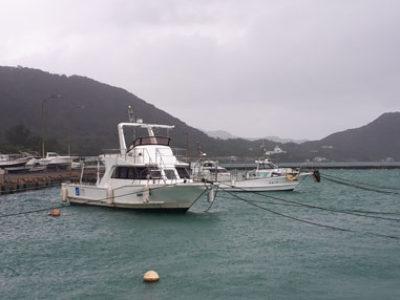 奄美ダイビング 台風9号・・・・。